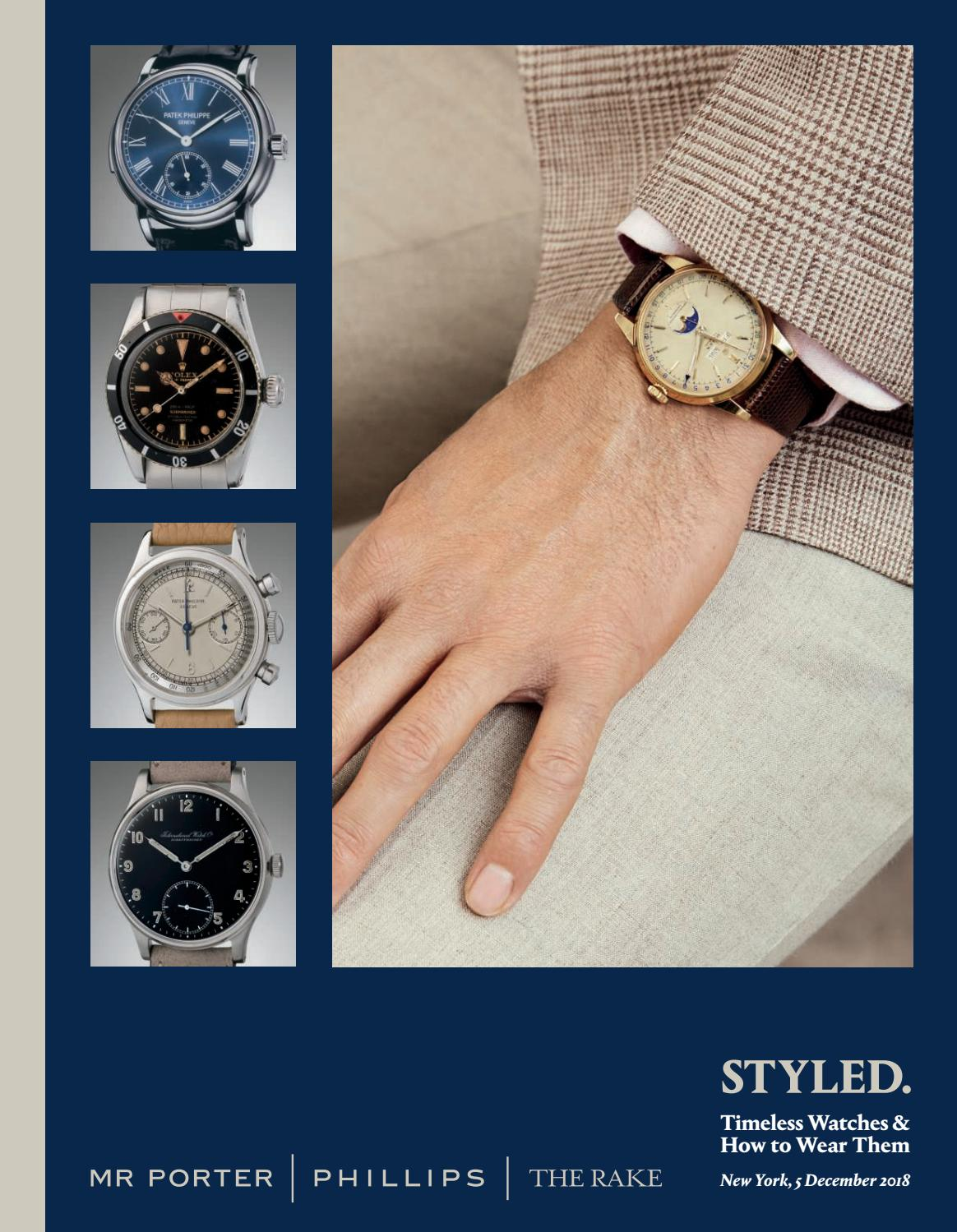 STYLED. Timeless Watches   How to Wear Them by PHILLIPS - issuu 056c62e9943f