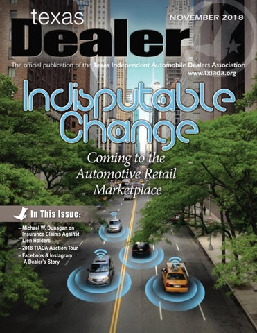 Texas Dealer November 2018 by Texas Independent Auto Dealers
