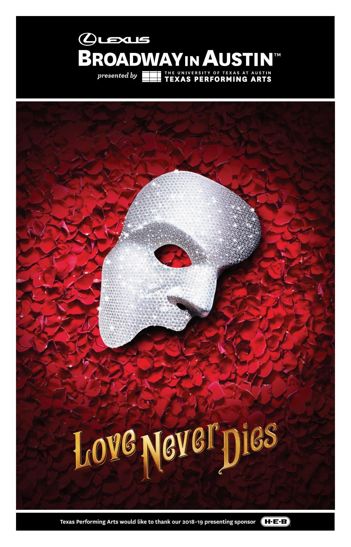 Love Never Dies Program by Texas Performing Arts - issuu