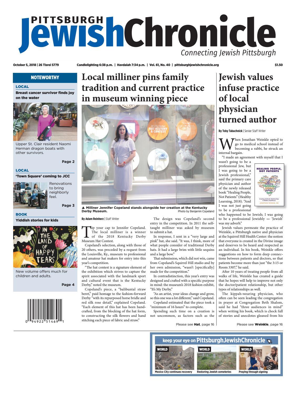 Pittsburgh Jewish Chronicle 10 5 2018 By Pittsburgh Jewish Chronicle Issuu