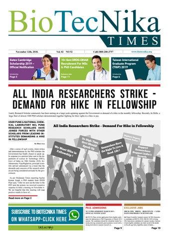 Biotecnika Times Newspaper 13 November 2018 by BioTecNika - issuu