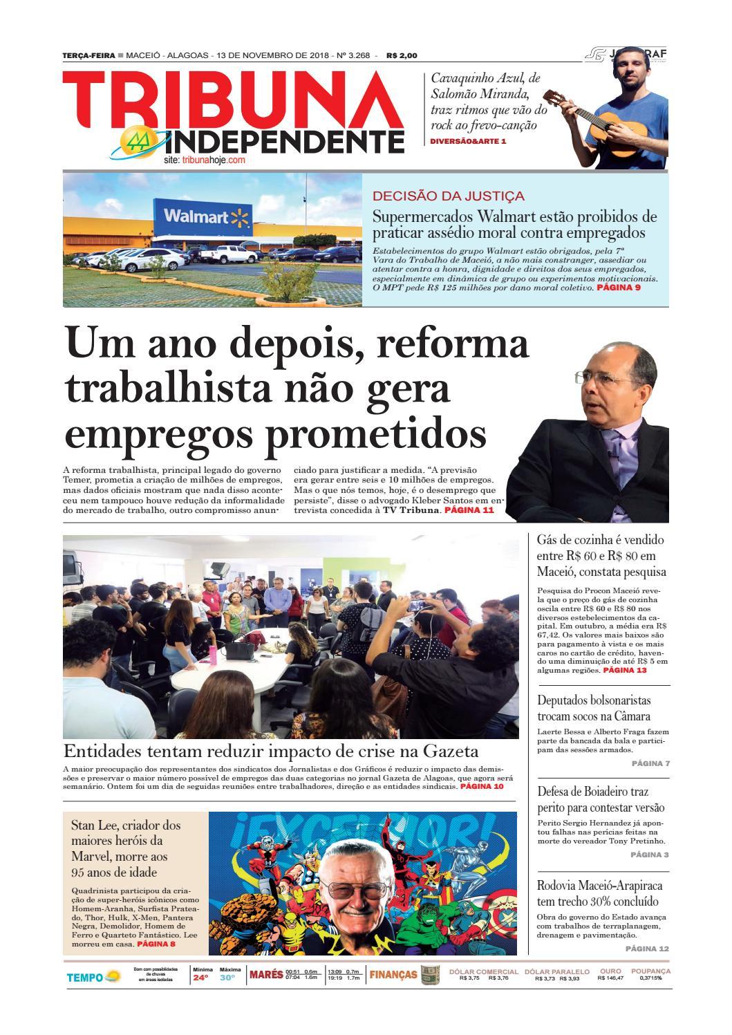 e022b62a3e3 Edição número 3268 - 13 de novembro de 2018 by Tribuna Hoje - issuu