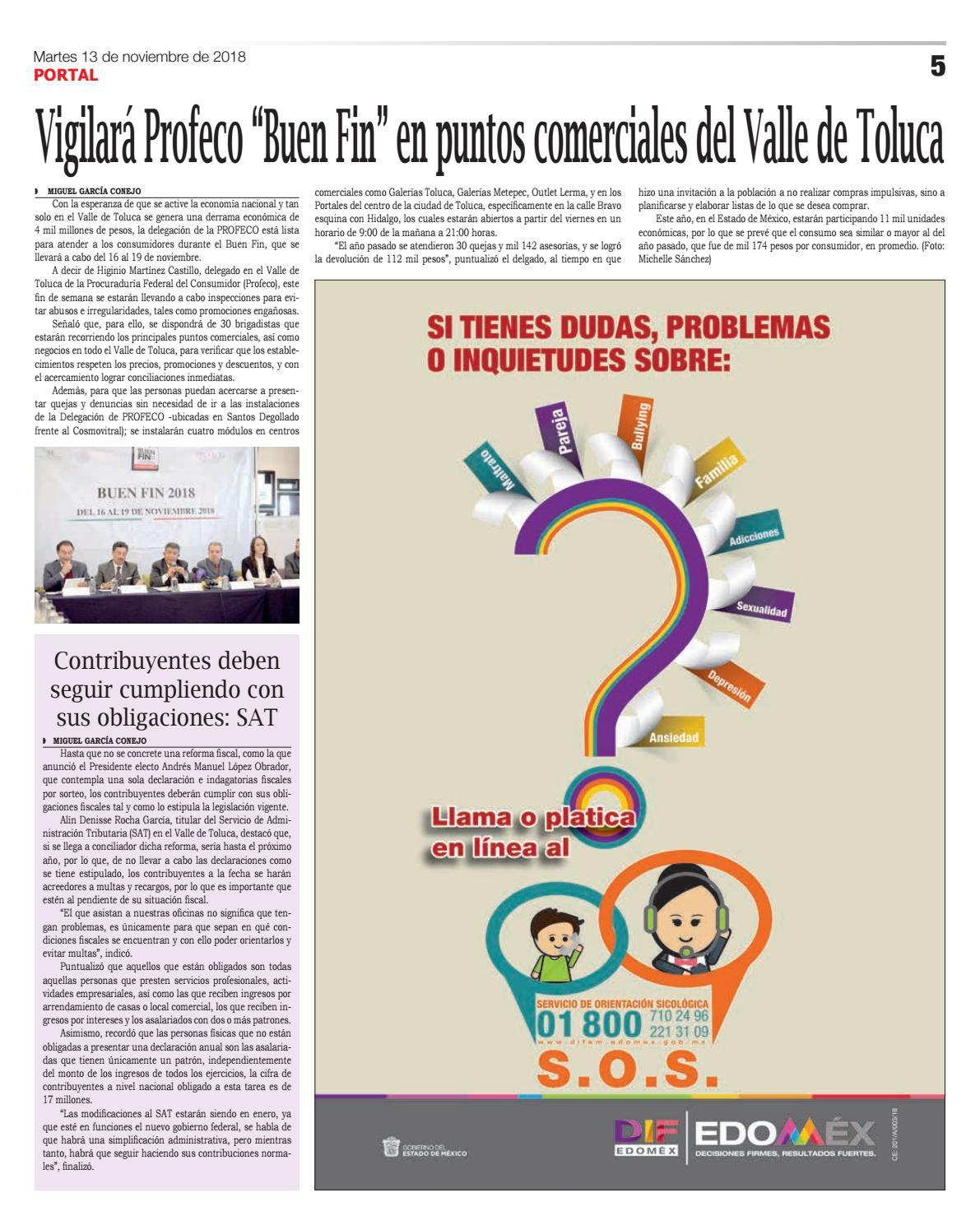 Edición Impresa 13 De Noviembre De 2018 By Portal Diario