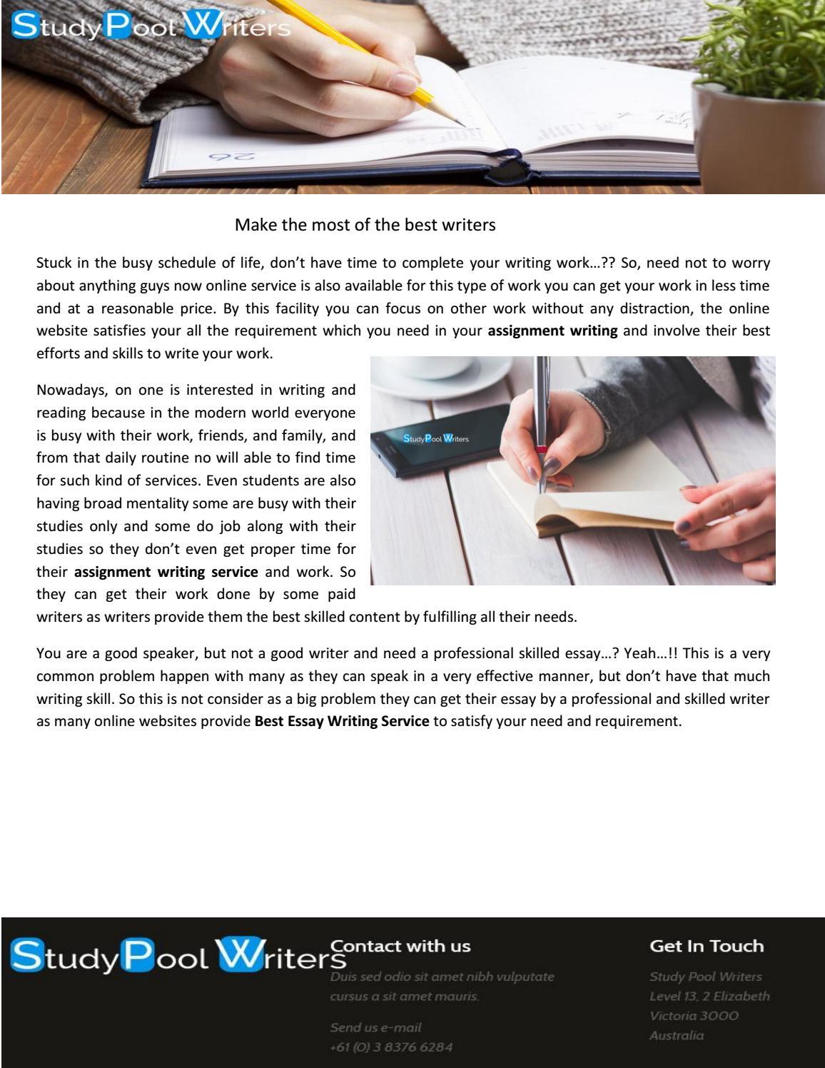 Best Essay Writing Service By Study Pool Writers Issuu