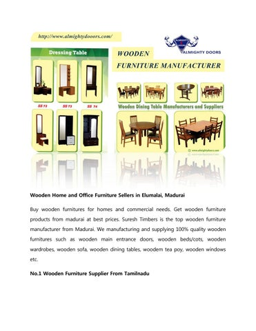 Wooden Home And Office Furniture Sellers In Elumalai