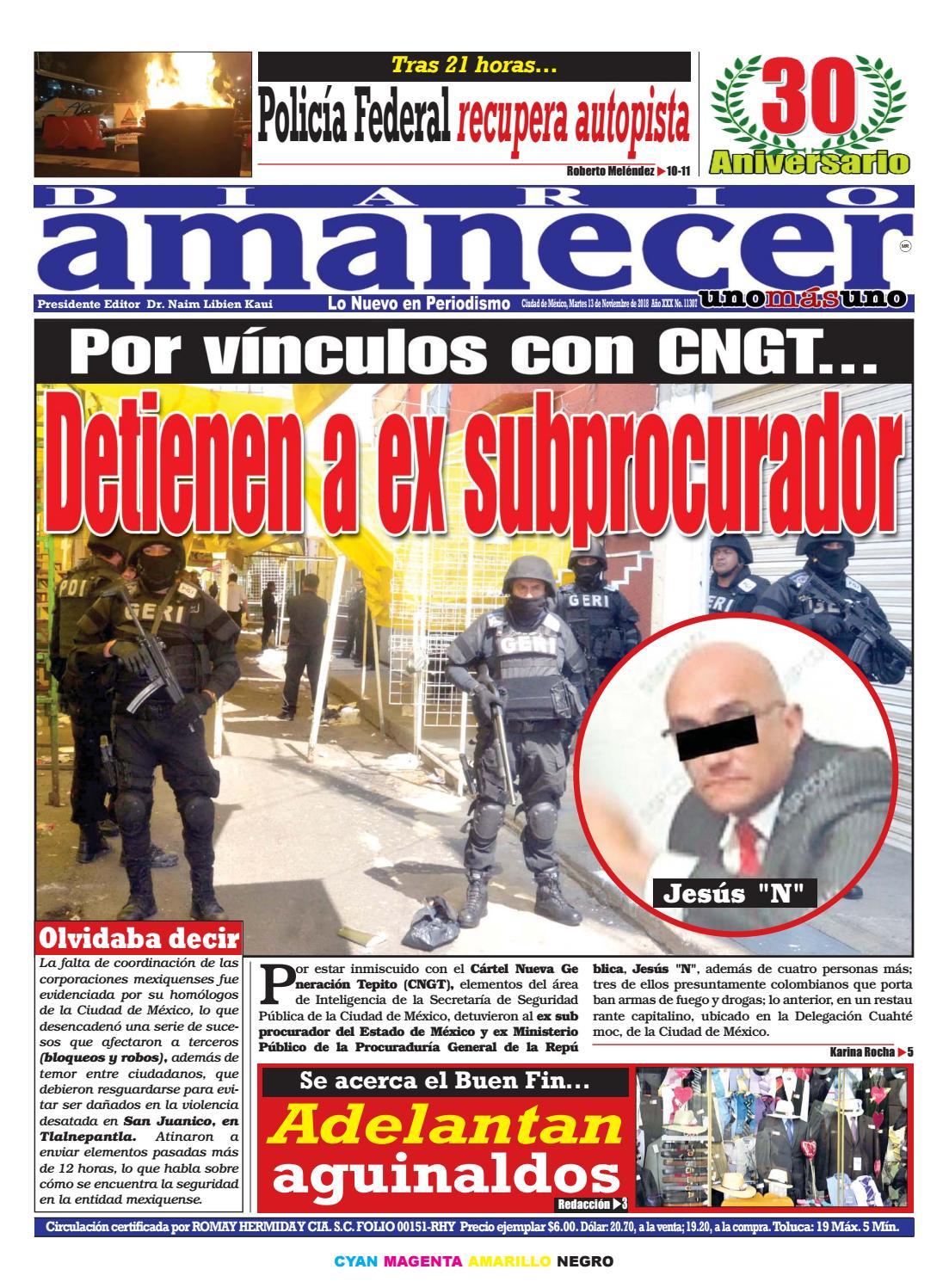 finest selection 3b3e2 8e084 NOVIEMBRE 13 DE 2018 by Diario Amanecer - issuu
