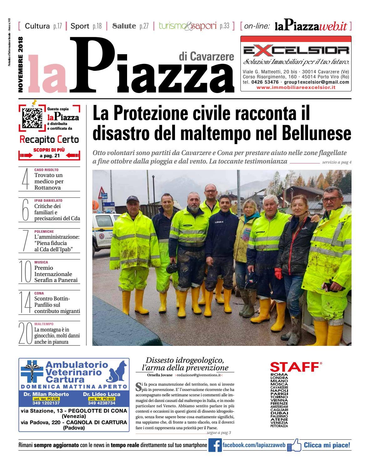 La Piazza di Cavarzere nov2018 n148 by lapiazza give emotions - issuu cbd461e70593