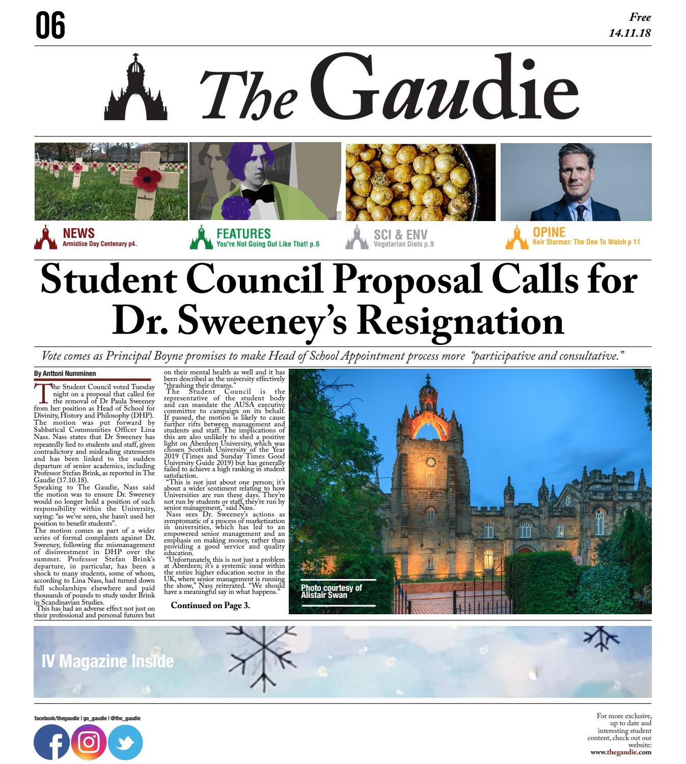 bfd329a307d The Gaudie 14.11.18 by The Gaudie - issuu