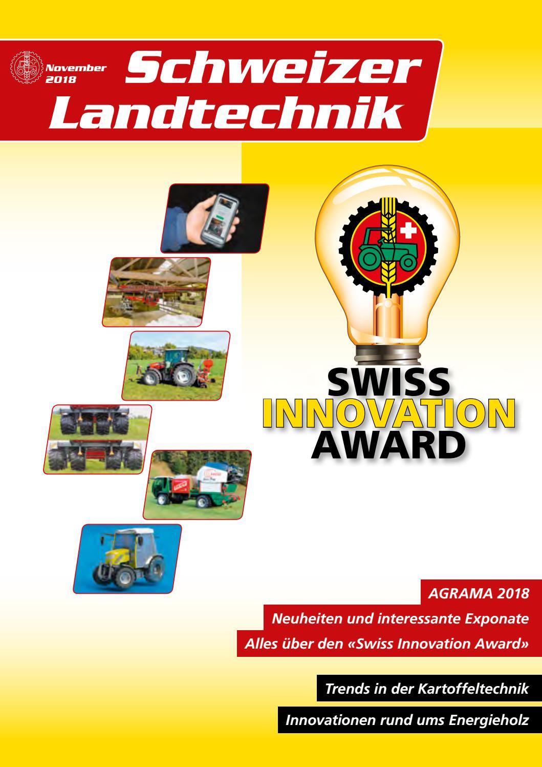 Schweizer Landtechnik 112018 By Schweizerischer Verband Für