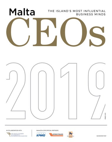 Malta CEO's 2019 by Content House Group - issuu