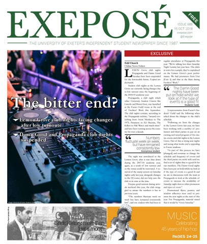 37b59990b64 Issue 688 / 15 October 2018 by Exeposé - issuu