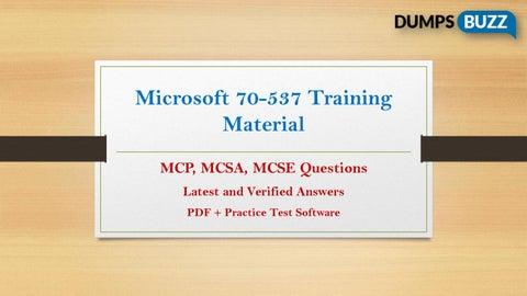 70-537 PDF Test Dumps - Free Microsoft 70-537 Sample practice exam