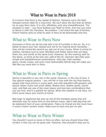 83d0f001f7ca How to Dress in Paris-A Guide for All Season by S Reza - issuu