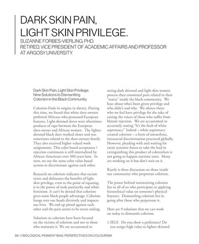 Page 88 of Dark Skin Pain, Light Skin Privilege
