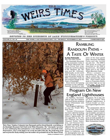 11/15/18 Weirs Times by The Weirs Publishing Company - issuu