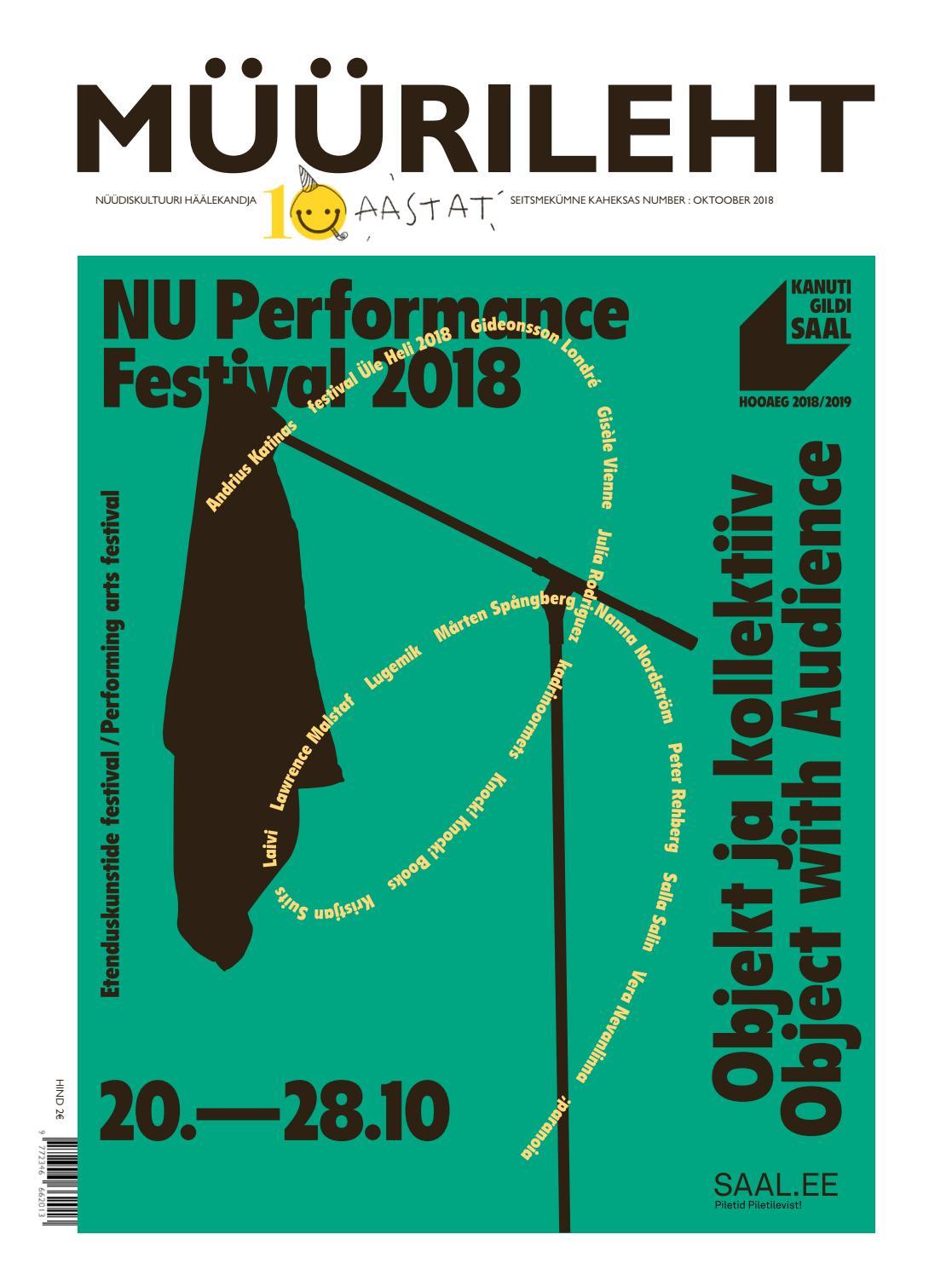 5a96dd72373 MÜÜRILEHT 78 : OKTOOBER 2018 by Müürileht - issuu