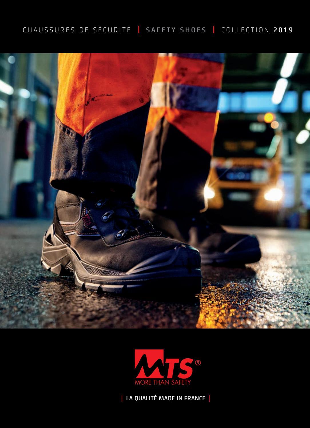 Catalogue Chaussures de sécurité MTS More Than Safety by