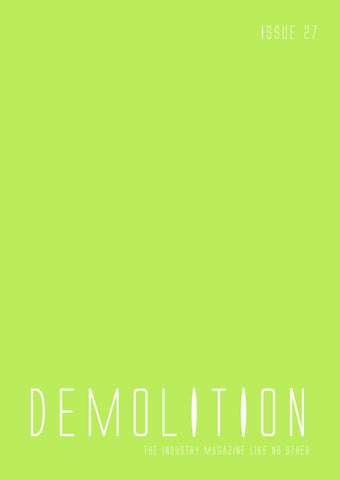 Demolition magazine - Issue 27 by Mark Anthony - issuu