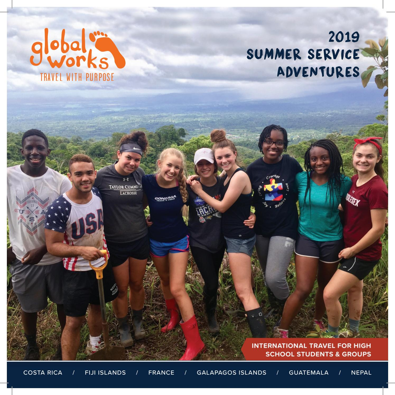 2019 Summer Service Adventures Catalog