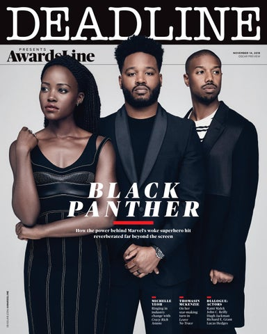 Page 1 of AwardsLine Oscar Preview with 'Black Panther'