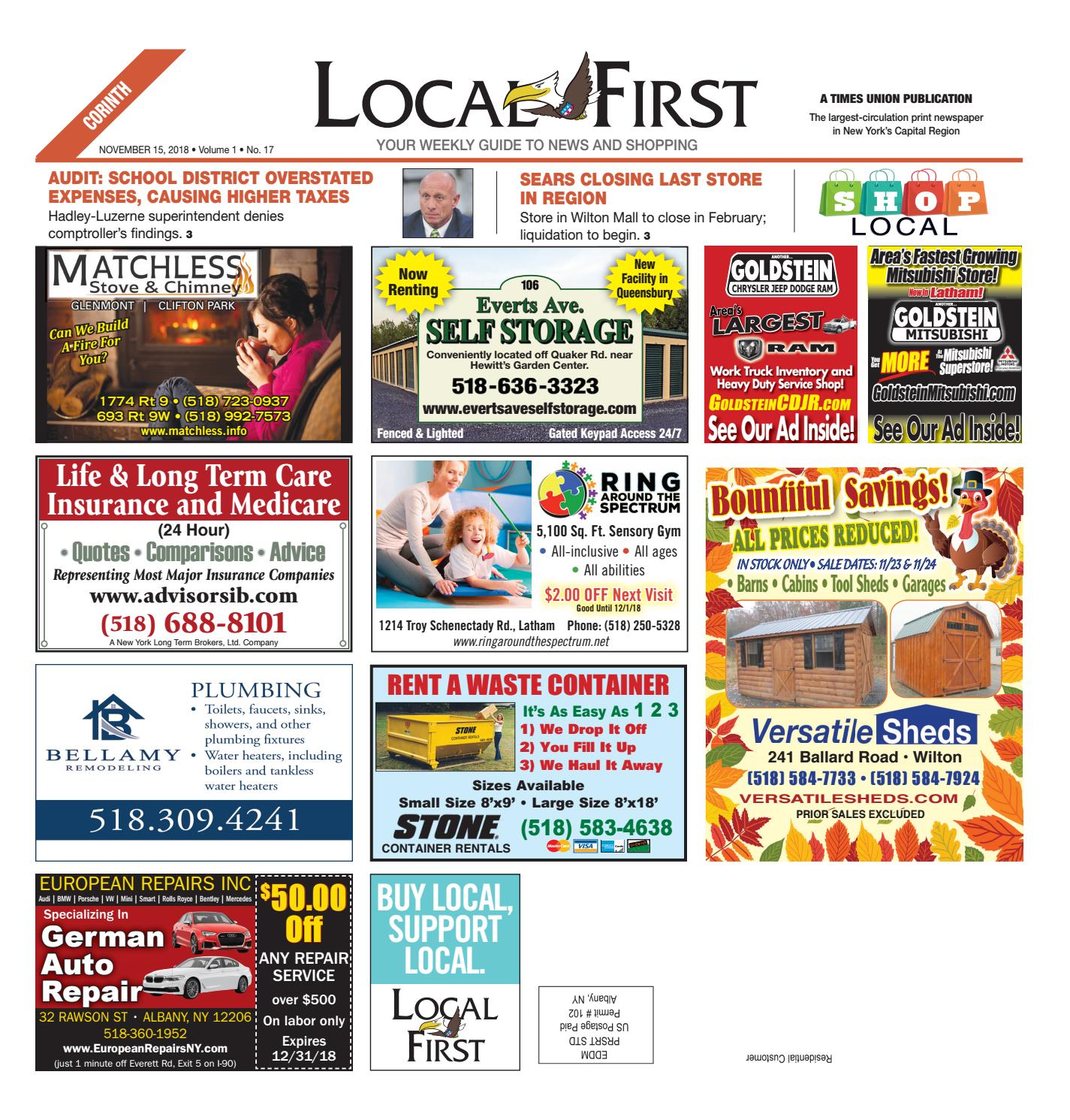 0acd455bb Local First Corinth 111518 by Capital Region Weekly Newspapers - issuu