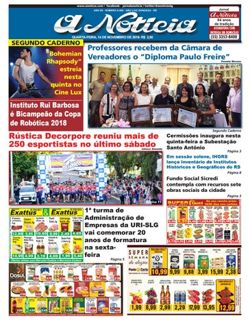 098bd9bad8 Dia 14 de novembro de 2018 by Jornal A Notícia - issuu