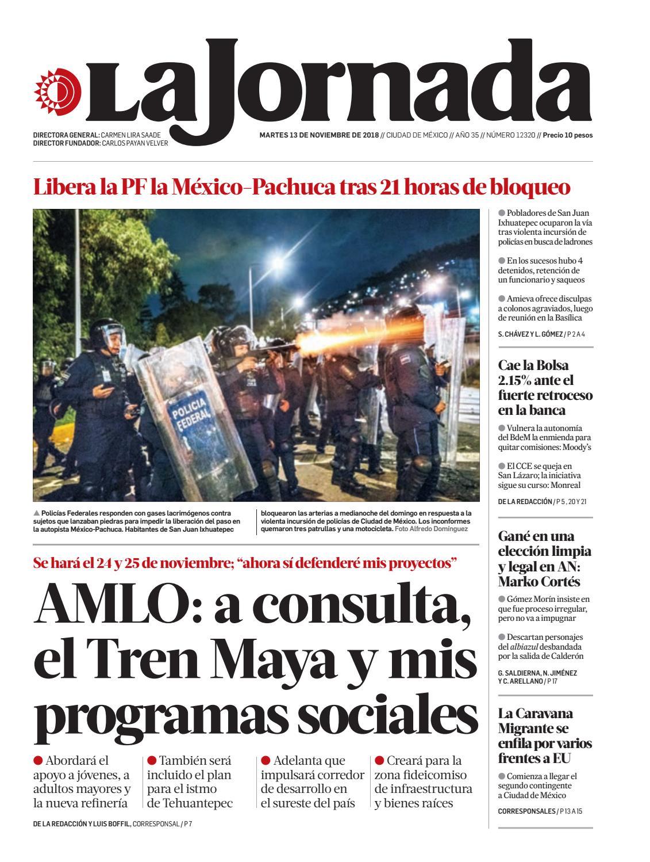 La Jornada 11 13 2018 By La Jornada Issuu