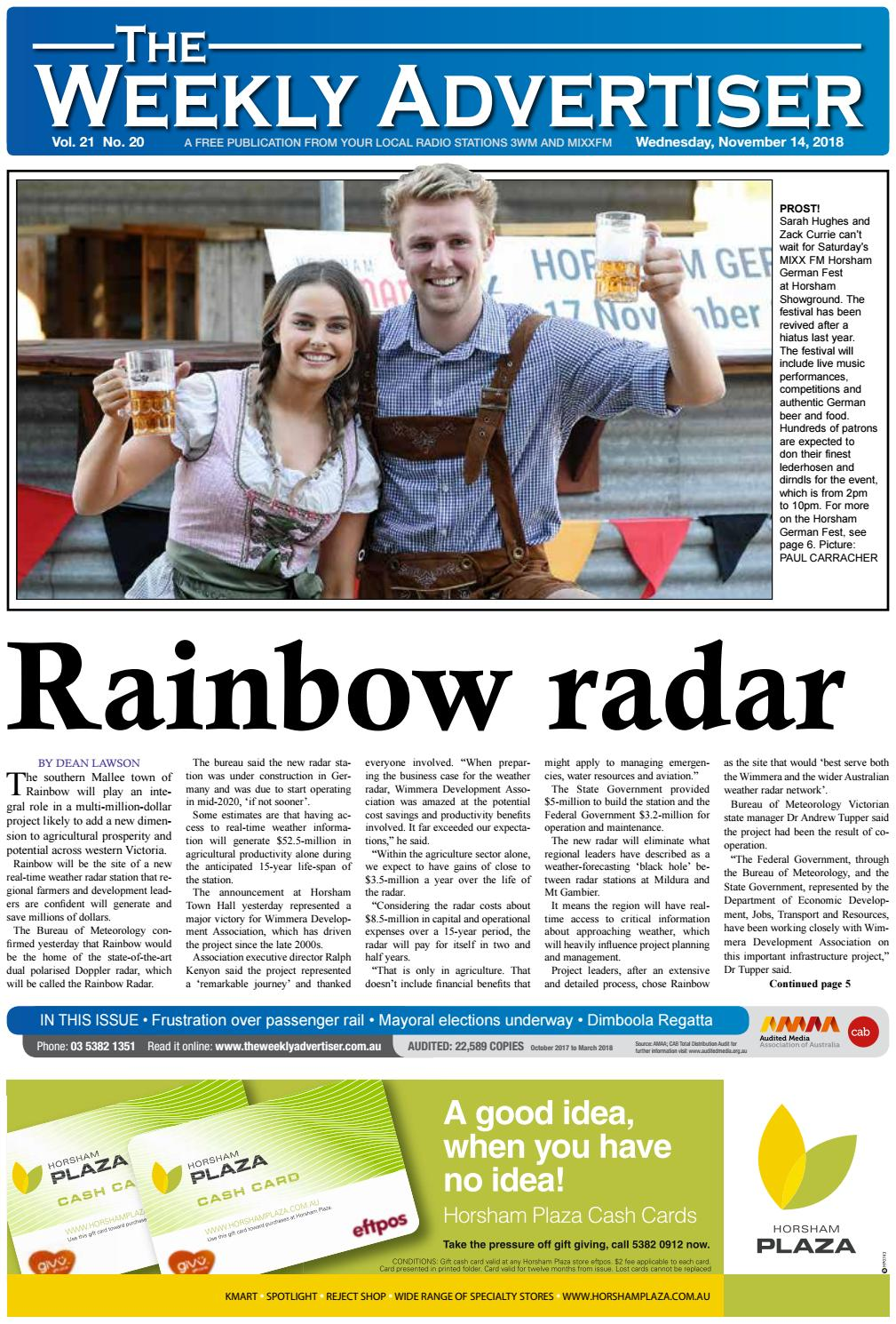 The Weekly Advertiser - Wednesday, November 14, 2018 by The