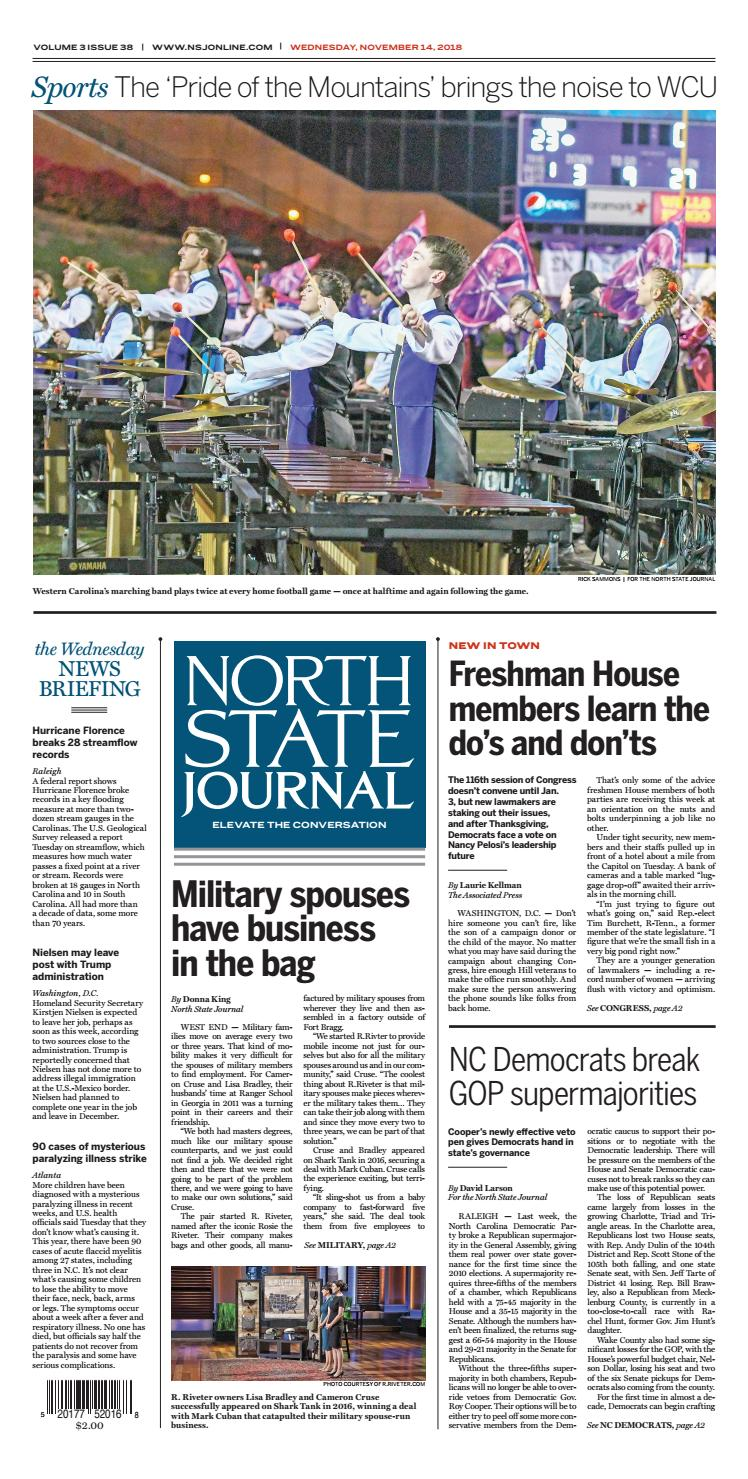 North State Journal Vol  3, Issue 38 by North State Journal