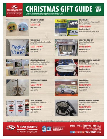 2018 Fraserway RV Leduc Christmas Gift Guide by Adventurer