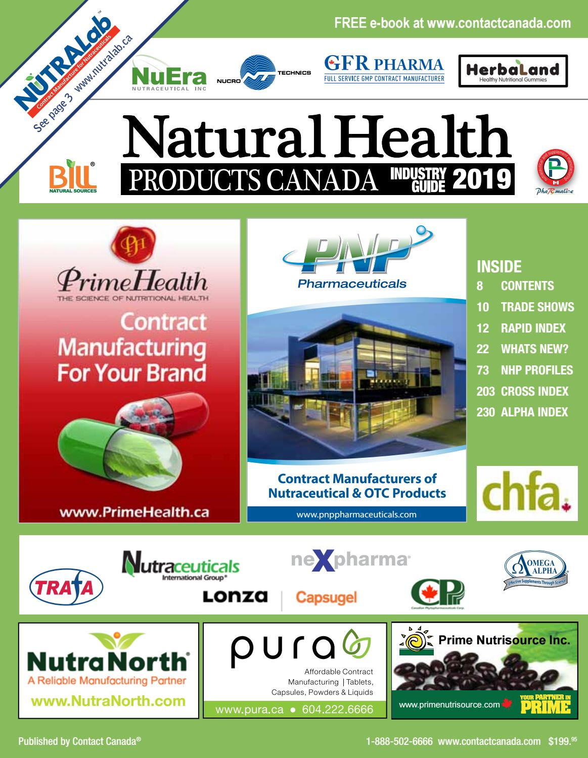 Natural Health Products Canada by Contact Canada - issuu