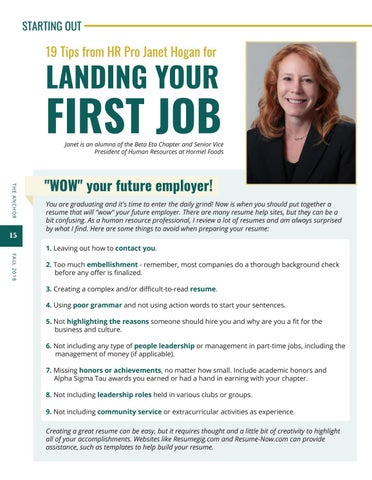 Page 16 of 19 Tips for Landing Your First Job