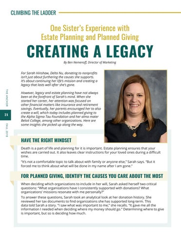 Page 22 of Creating a Legacy