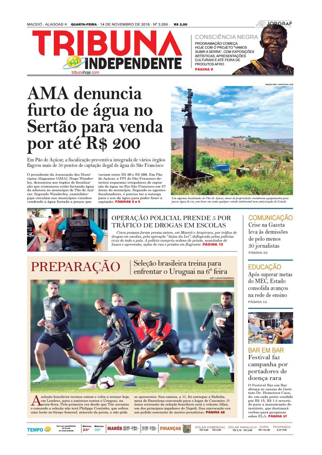 084641b720 Edição número 3269 - 14 de novembro de 2018 by Tribuna Hoje - issuu