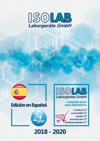 ISOLAB catálogo en Español by ISOLAB Laborgeräte GmbH - issuu 294a01ed9ed