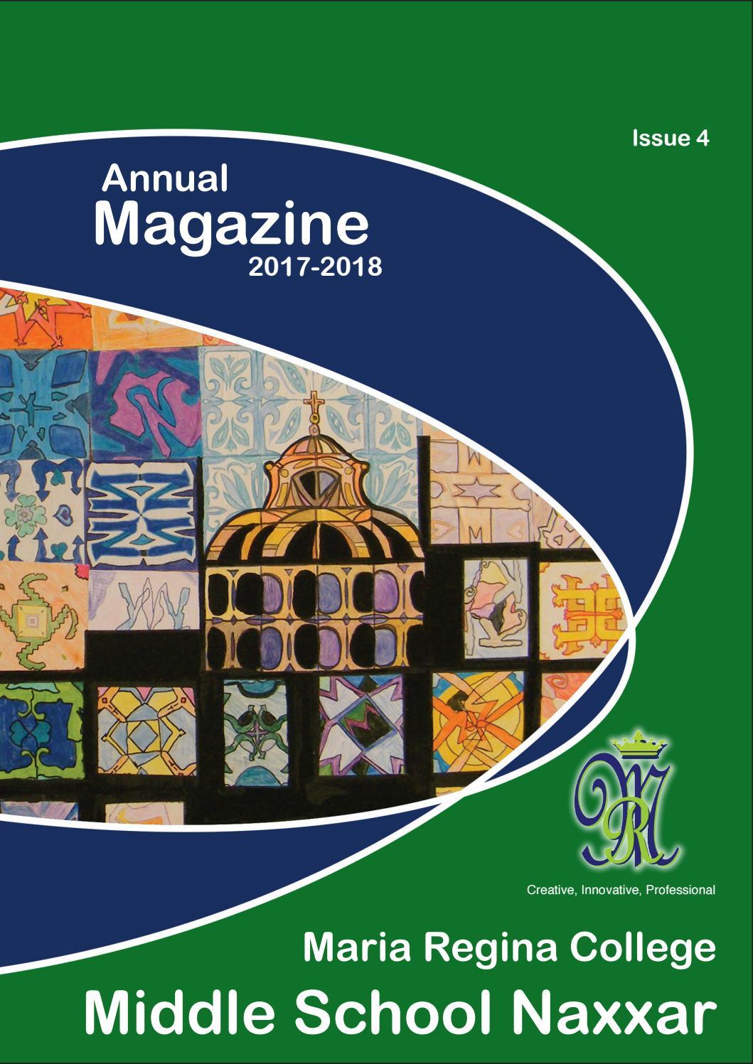 Annual School Magazine Middle School Naxxar By Maria