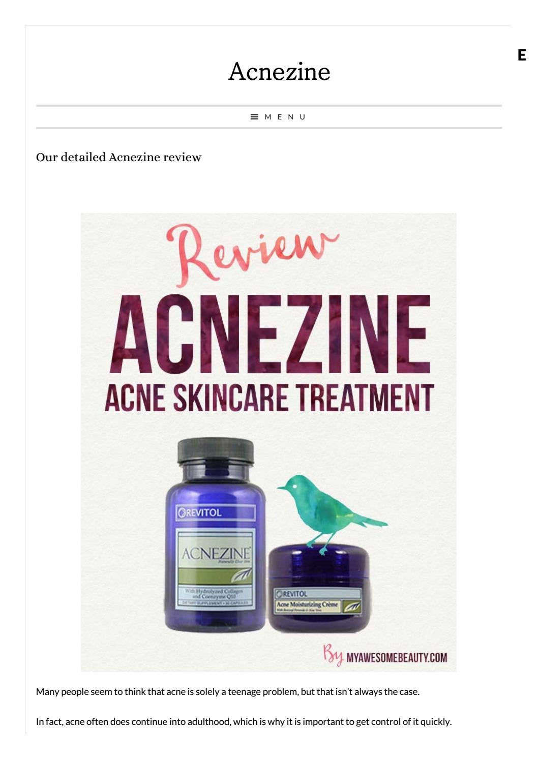 The Acnezine Solution For Acne Skin Care By Tashrif Ahmed Dipto