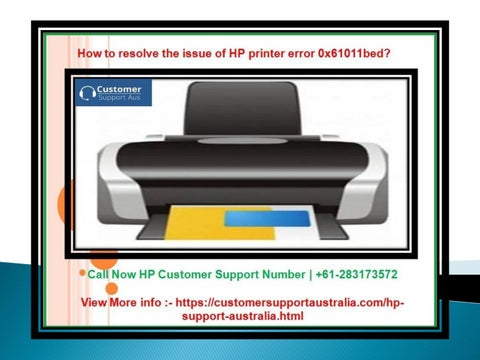 How to resolve the issue of HP printer error 0x61011bed? by
