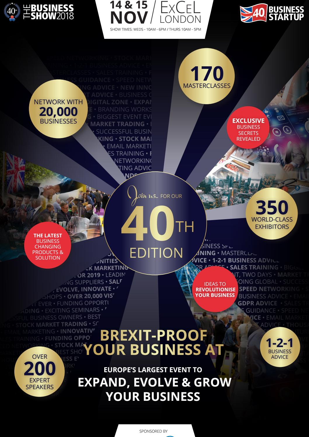 The Business Show 40th Edition Showguide November 2018 by