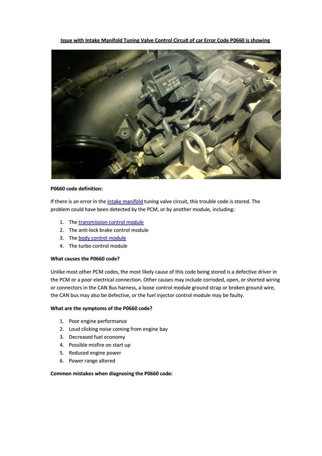 Partsavatar Car Parts, Canada - Issue with Intake Manifold Tuning