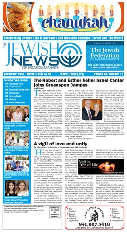 The Jewish News December 2018 By The Jewish Federation Of Sarasota