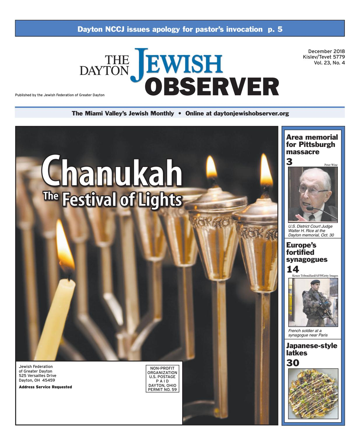 The Dayton Jewish Observer December 2018 By The Dayton Jewish Observer Issuu