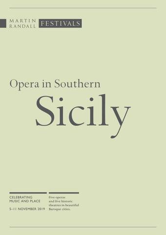 Opera In Southern Sicily 5 11 November 2019 By Martin