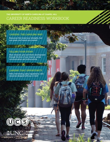 2018 2019 Unc Career Readiness Workbook By Unc Chapel Hill