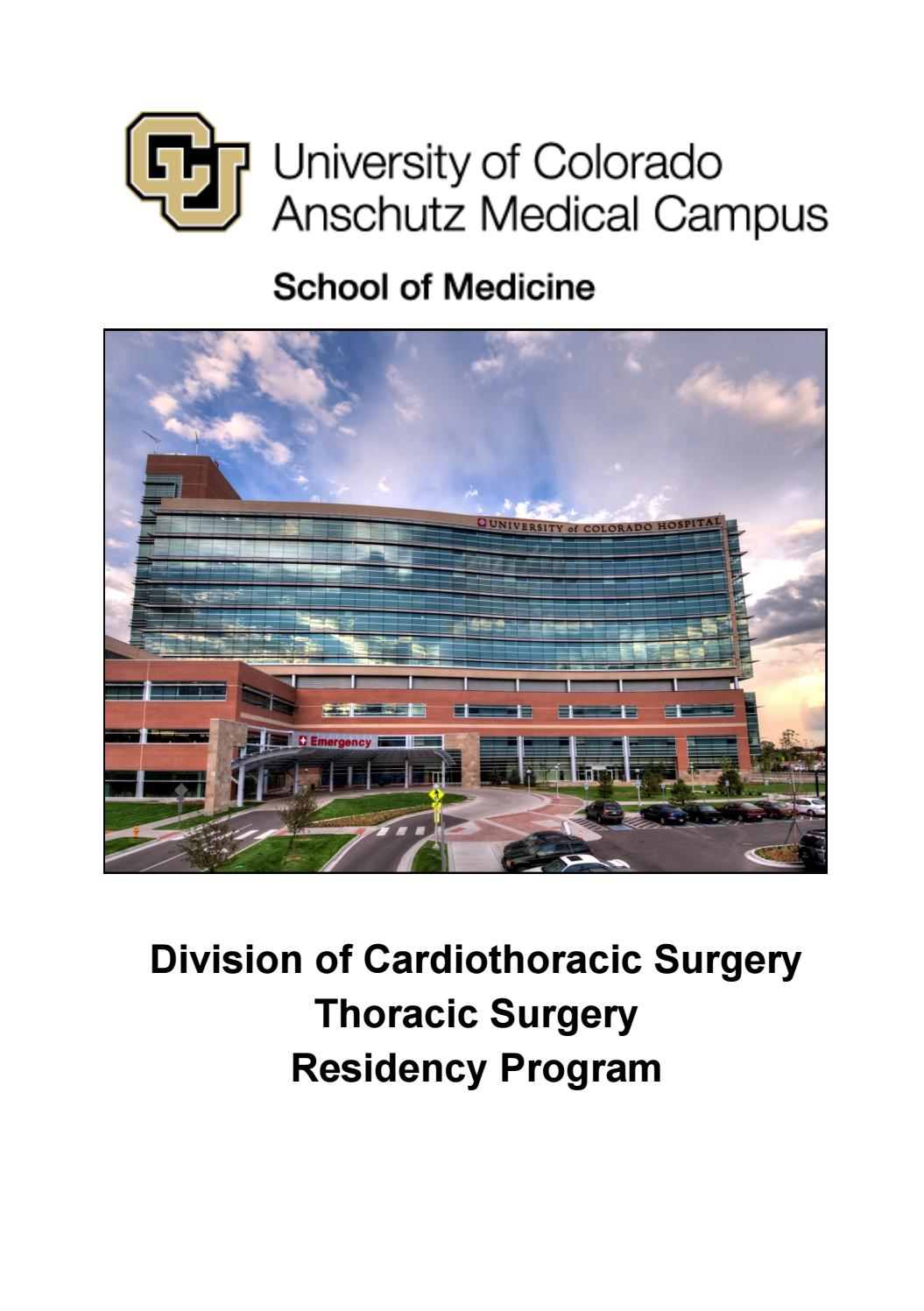 2018 Thoracic Surgery Residency Program By Ucsurgery Issuu