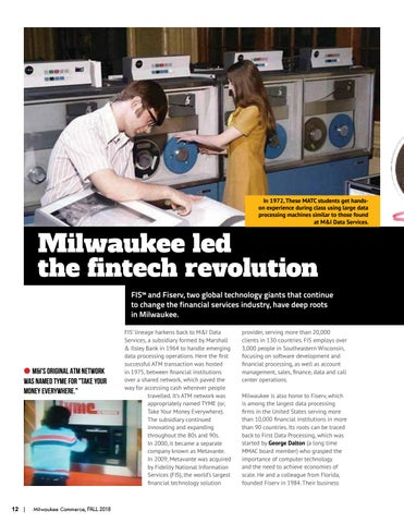 Page 12 of Milwaukee led the fintech revolution