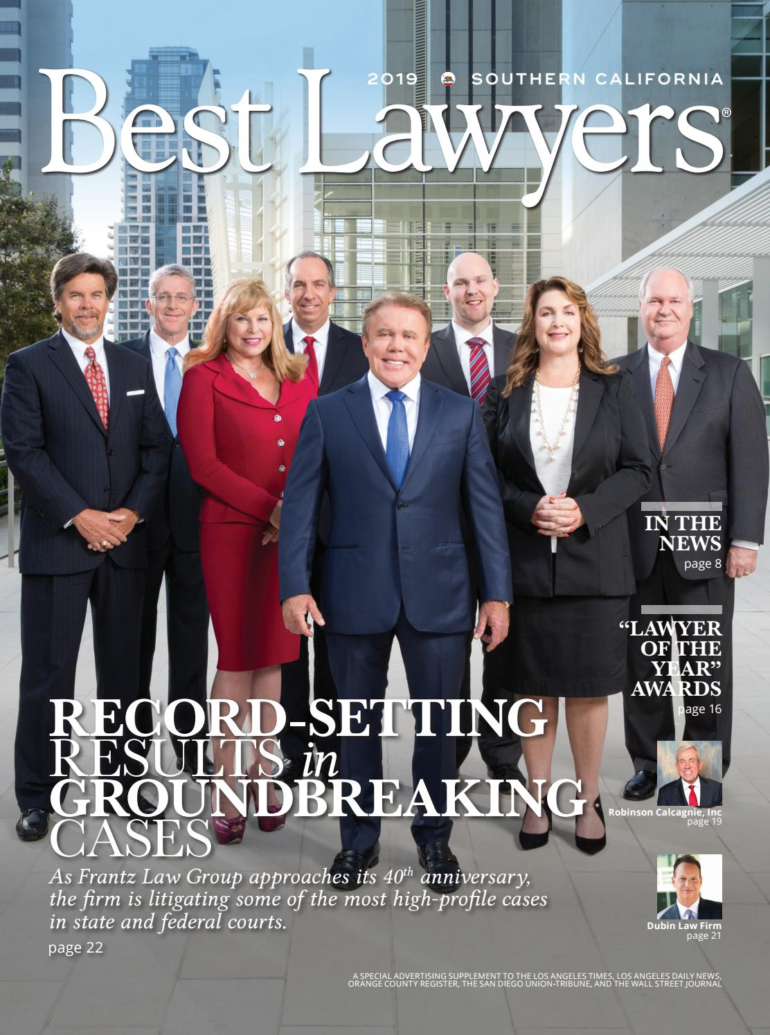 Best Lawyers in Southern California 2019 by Best Lawyers - issuu