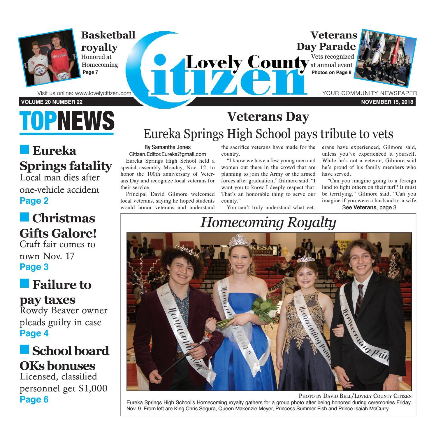 Lovely County Citizen Nov  15, 2018 by Lovely County Citizen