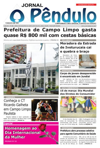 c1656589e00 Jornal O Pêndulo EDIÇÂO 1086 by Jornal O Pêndulo - issuu