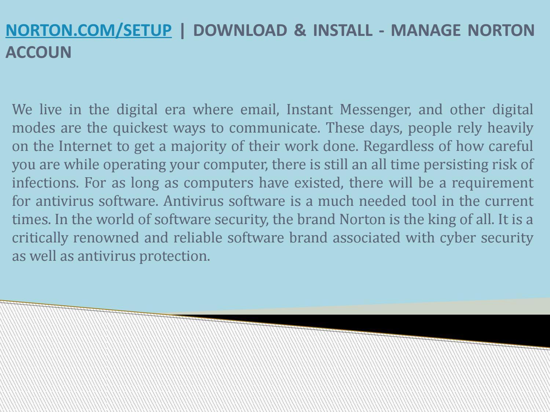 Norton com/setup   Download, Install or Setup Norton Security by